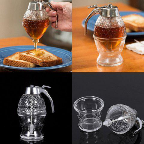 Acrylic Honey Syrup Dispenser Juice Drip Bottle Container for Kitchen - TRANSPARENT