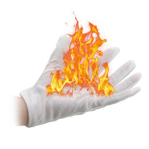 Magic Props Palm Fire Gants Trick Jouet 4pcs - Blanc