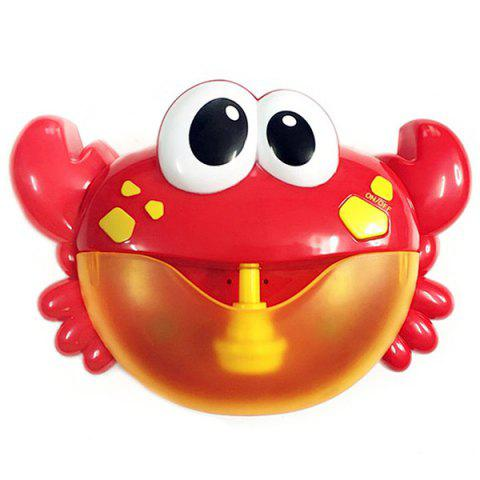 Crab Music Non-toxic Bathing Bubble-blowing Machine for Kids - FIRE ENGINE RED