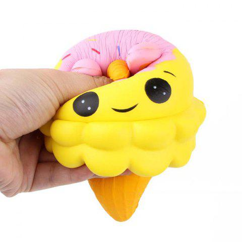 Creative Ice Cream Slow Rising Squishy Pressure-relief Toy - YELLOW