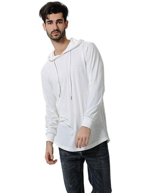 Comfortable Men Large Size Casual Long Sleeved Hoodie - WHITE 3XL