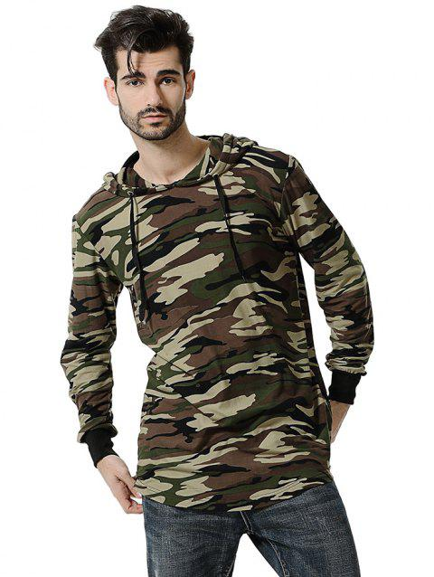 Comfortable Men Large Size Casual Long Sleeved Hoodie - ACU CAMOUFLAGE 3XL