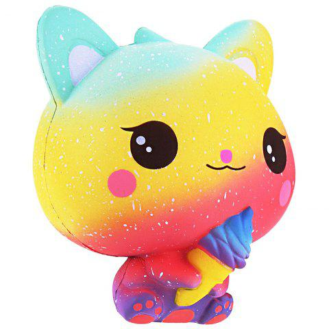 VLAMPO Cute PU Slow Rebound Squishy Relieve Stress Toy - multicolor C