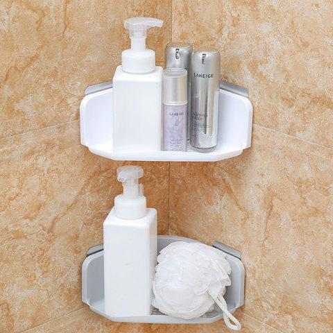 Shower Triangle Hole-free Corner Storage Shelf for Bathroom Kitchen - WHITE