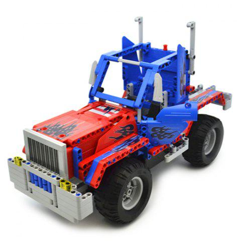 CaDA Assembling Building Block Deformation Car Model Toy with Remote Control for Children - OCEAN BLUE