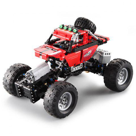 CaDA Assembling Building Blocks Off-road Car Toy with Remote Control - LOVE RED