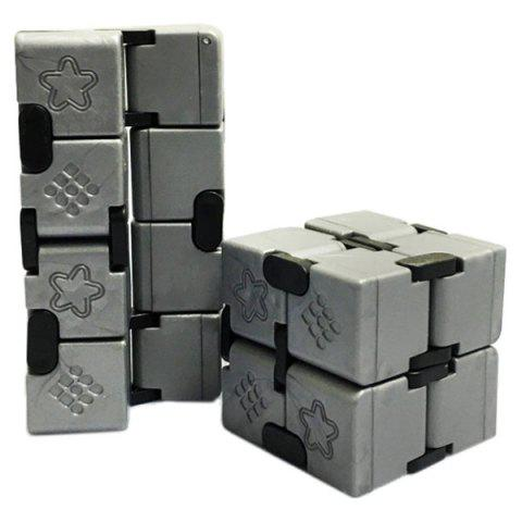 ABS Infinitely Collapsible Smooth Magic Cube Finger Puzzle Toy - SILVER