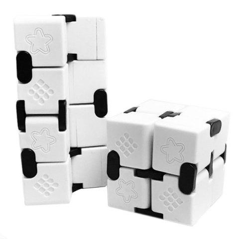 ABS Infinitely Collapsible Smooth Magic Cube Finger Puzzle Toy - WHITE