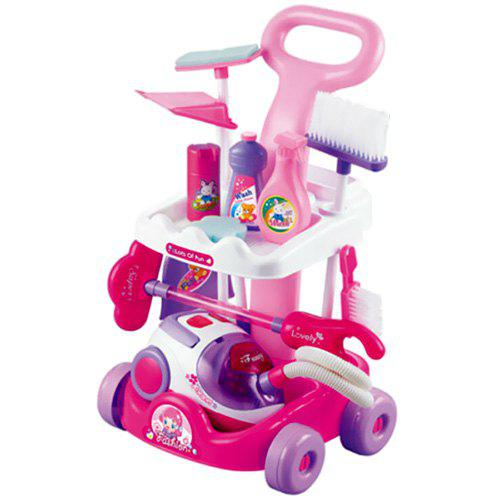 Simulation Toddler Cleaning Tool Vacuum Cleaner Small Household Electrical Appliance Toy - multicolor B