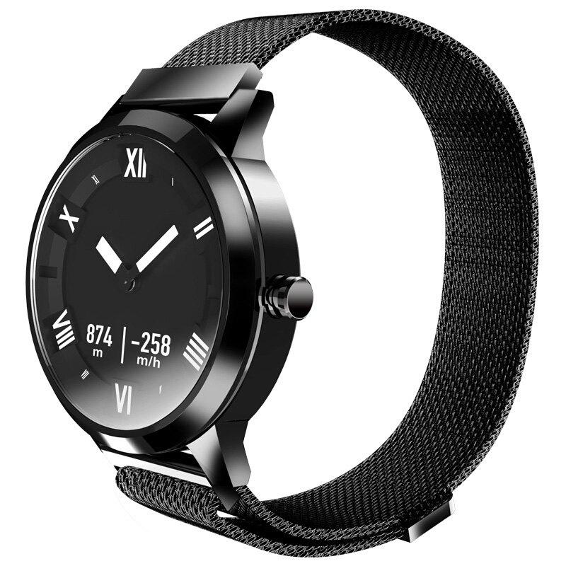 Lenovo Watch X Plus Bluetooth Waterproof Smartwatch Support iOS and Android with Heart Rate Monitor Blood Barometer Functions - BLACK