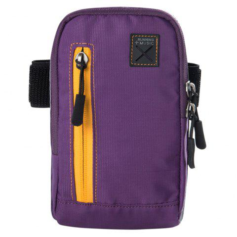 AONIJIE E845 Practical Nylon Arm Bag - PURPLE JAM