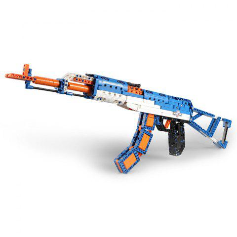 CaDA Assembling Building Blocks Assault Rifle Model Toy for Kids - BUTTERFLY BLUE