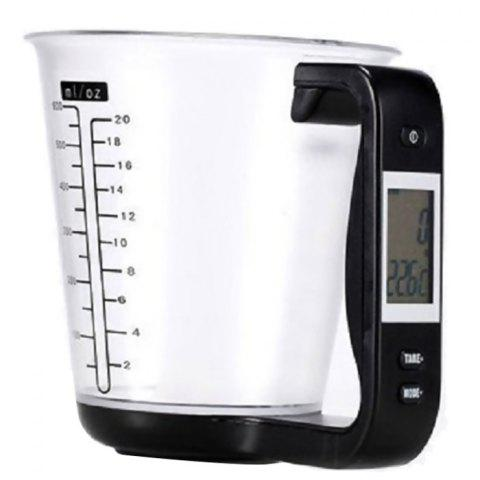 Multifunctional Digital Kitchen Scale Measuring Cup - BLACK