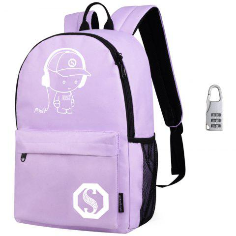 Waterproof Outdoor Backpack for Holding Stuff - COTTON CANDY WITH ANTI-THEFT LOCK