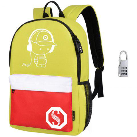 Waterproof Outdoor Backpack for Holding Stuff - multicolor WITH ANTI-THEFT LOCK