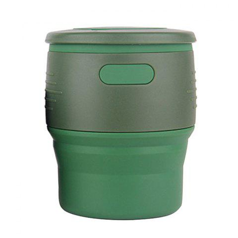 Silicone Multifunctional Travel Fold Cup - ARMY GREEN
