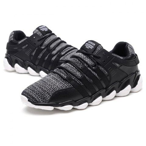 Leisure Breathable Anti-shock Sneakers for Men - GRAY CLOUD 44