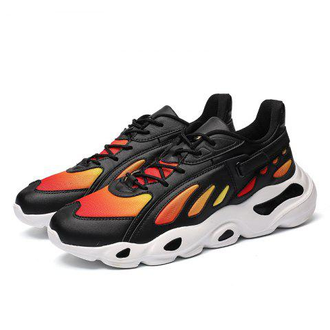 Breathable Comfort Mesh Sports Shoes for Men - BLACK 41