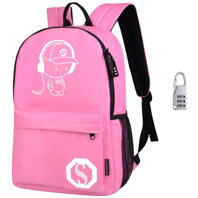 Waterproof Outdoor Backpack for Holding Stuff - CARNATION PINK WITH ANTI-THEFT LOCK