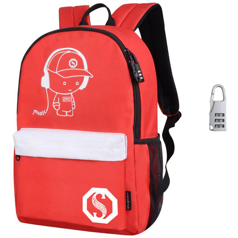Waterproof Outdoor Backpack for Holding Stuff - RUBY RED WITH ANTI-THEFT LOCK