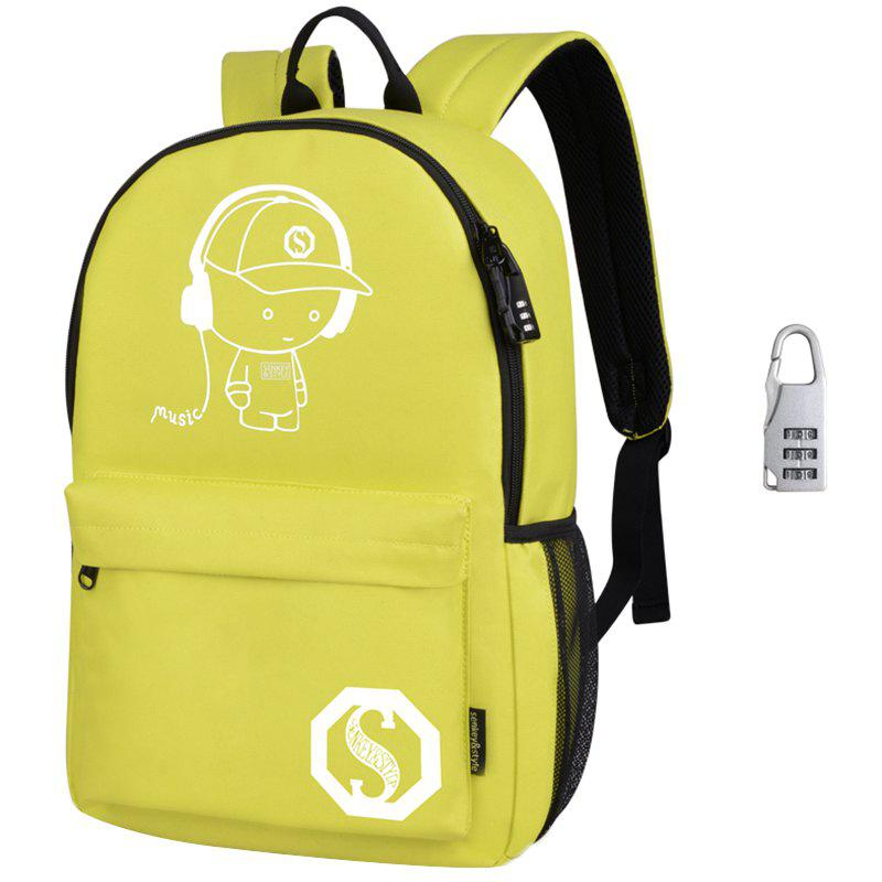 Waterproof Outdoor Backpack for Holding Stuff - YELLOW WITH ANTI-THEFT LOCK