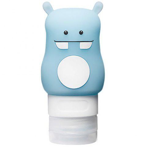 Tuban 50ml Cute Silicone Travel Size Container for Shampoo and Lotion - DEEP SKY BLUE