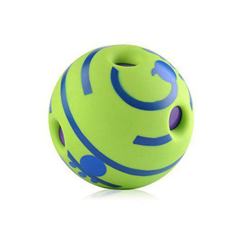 Cat Dog Sounding Ball Pet Toy - GREEN