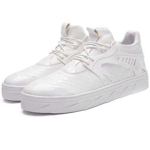 Stylish Durable Breathable Casual Sneakers for Men - MILK WHITE 44