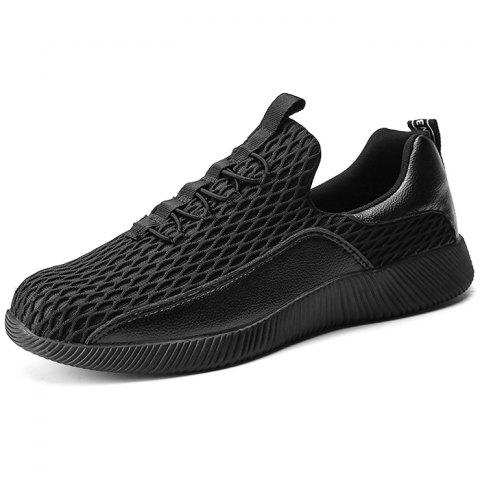 Outdoor Breathable Anti-slip Durable Sports Sneakers for Men - BLACK 44