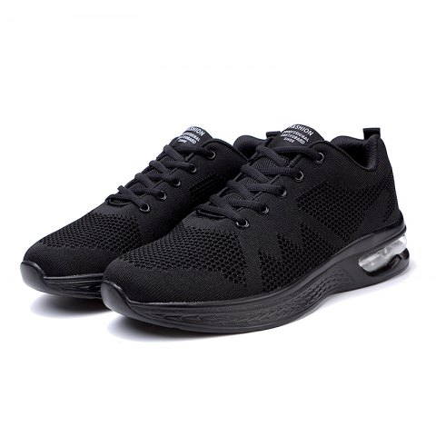 Men Outdoor Comfortable Breathable Mesh Sneakers - BLACK 39