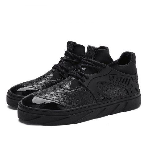 Stylish Durable Breathable Casual Sneakers for Men - BLACK 39