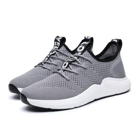 Anti-slip Breathable Color Matching Casual Sports Shoes for Men - GRAY CLOUD 39