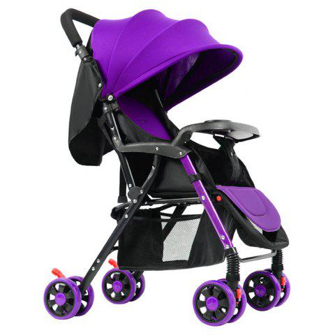 GIFT Lightweight Foldable Four-wheeled Stroller for Baby - PURPLE