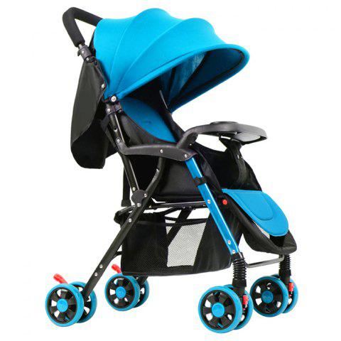 GIFT Lightweight Foldable Four-wheeled Stroller for Baby - BUTTERFLY BLUE
