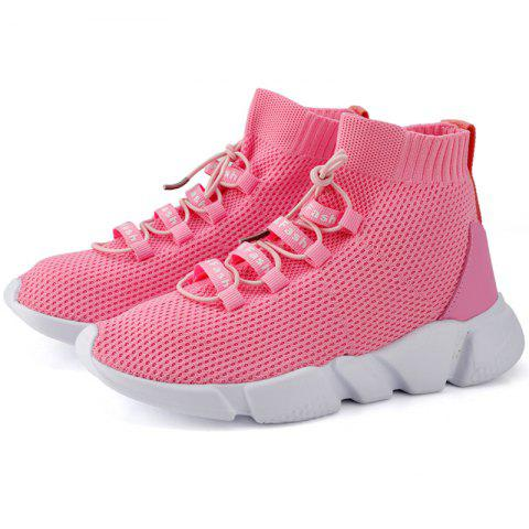 Anti-slip Breathable High-top Casual Sports Shoes - PINK 41