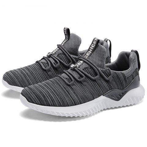 Leisure Breathable Comfort Casual Sneakers for Men - BATTLESHIP GRAY 45