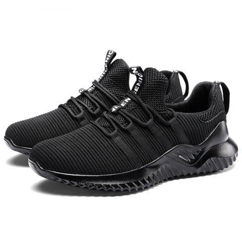 Leisure Breathable Comfort Casual Sneakers for Men - BLACK 46