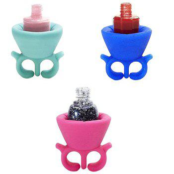Stylish Wearable Silicone Nail Oil Bottle Holder - HOT PINK