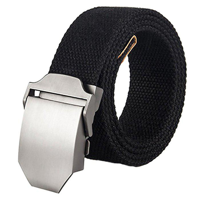 Thickened Canvas Belt with Automatic Buckle