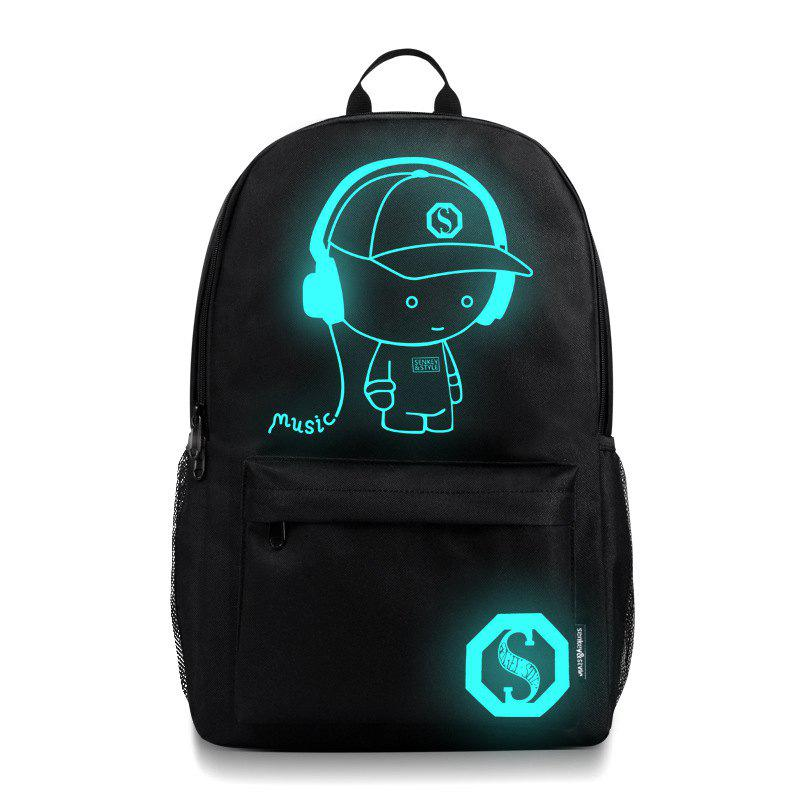 Waterproof Outdoor Backpack for Holding Stuff - BLACK WITHOUT ANTI-THEFT LOCK