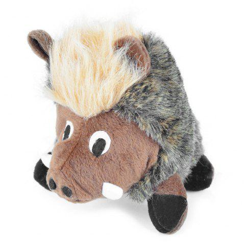 Chew Squeaky Warthog Jouets pour animaux de compagnie - multicolor A