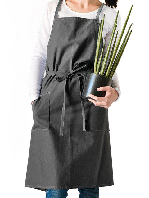 Japanese Style Cotton Apron - GRAY