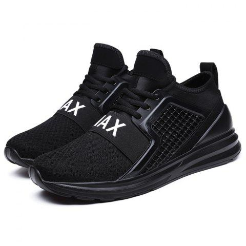 Fashion Breathable Lace-up Comfort Casual Sneakers for Men - BLACK 45