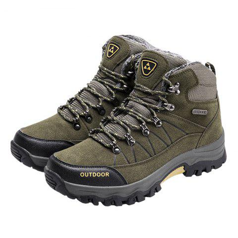 Outdoor Lace Up Men Warm Sports Boots - CLOUDY GRAY 46