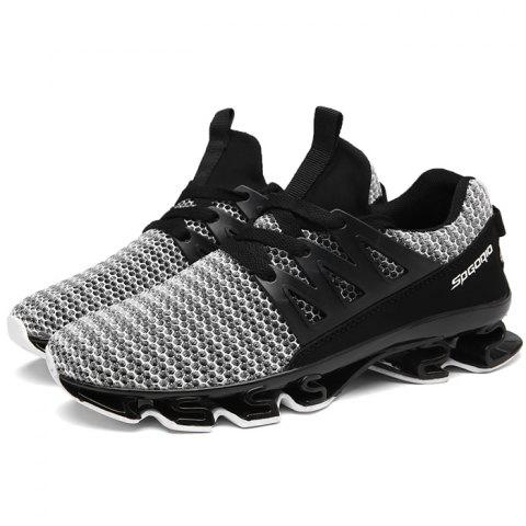 Trendy Comfortable Anti-slip Casual Sports Shoes for Men - BATTLESHIP GRAY 43
