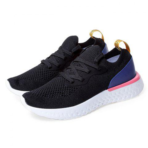 Trendy Breathable Lace-up Sneakers for Men - BLACK 40