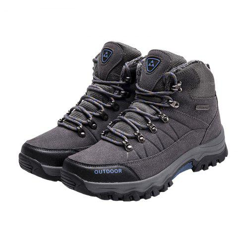 Outdoor Lace Up Men Warm Sports Boots - BATTLESHIP GRAY 47