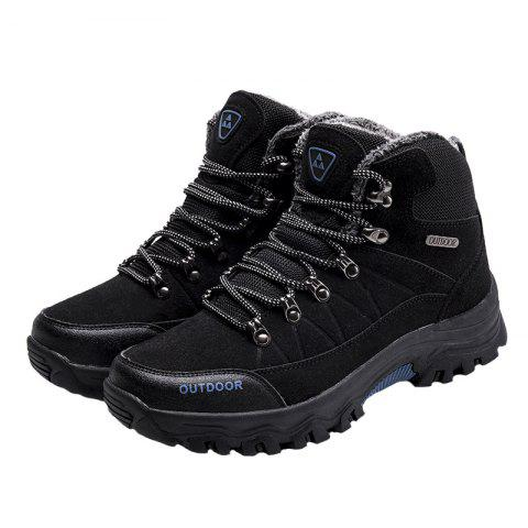 Outdoor Lace Up Men Warm Sports Boots - BLACK 46