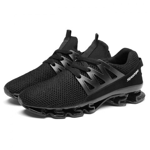 Trendy Comfortable Anti-slip Casual Sports Shoes for Men - BLACK 45