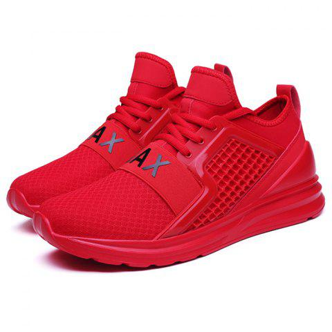 Fashion Breathable Lace-up Comfort Casual Sneakers for Men - CHESTNUT RED 39